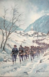le 12ème régiment alpin dans le village de plampinet by bernard rambaud