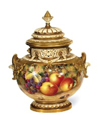 a two handled coverd pot pourri by harry ayrton