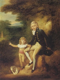 portrait of a young boy with his brother by richard livesay