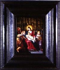 virgen con el niño rodeada de ángeles músicos by hieronymus francken the younger