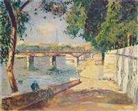 vue du pont des arts by lucien adrion