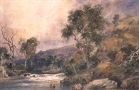 dwight's falls, the yarra river by henry eason davies