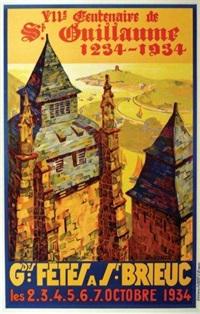 grande fêtes à saint brieuc - viième centenaire 1234-1934 by théophile lemonnier