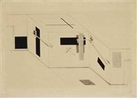 plate 5 (from 1. kestnermappe proun) by el lissitzky