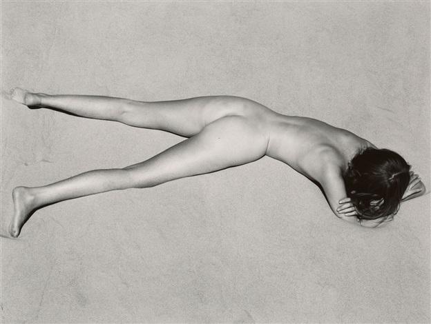 nude on sand oceano by edward weston