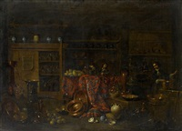 the interior of a chemist shop by giovanni domenico valentino