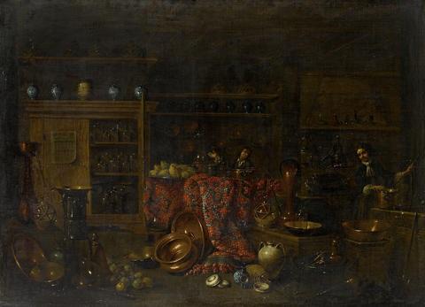 the interior of a chemist shop by giovanni domenico valentino