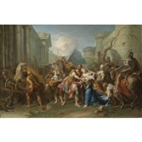 hector taking leave of andromache by jean restout the younger