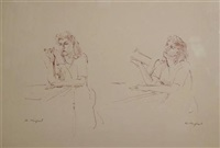 figures of women (4 studies) by bernard karfiol