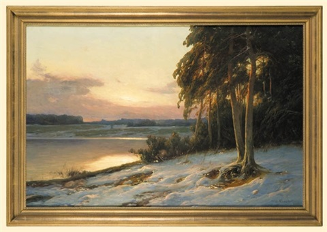 winter afterglow by carl kenzler