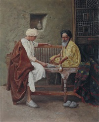 playing a game of mancala by hermann reisz