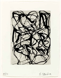 han shan exit (1 work) by brice marden