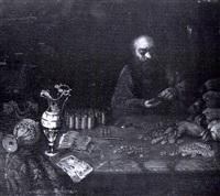 un prêteur sur gage comptant son argent by jean-auguste teste
