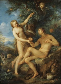 adam et eve by francois le moyne