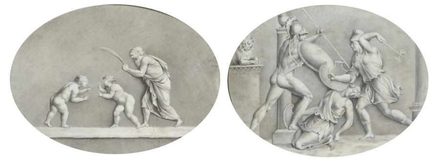scènes antiques mises à lovale 2 works by jean baptiste joseph wicar