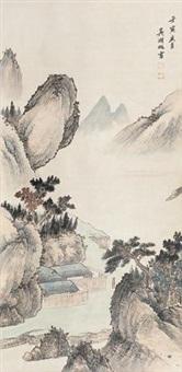山水泛舟图 by wu hufan