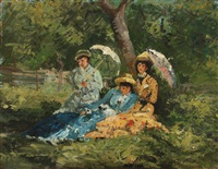 women in the park by ioan andresscu