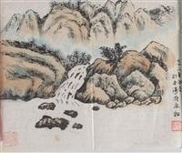 山水 镜片 纸本 by liu yantao