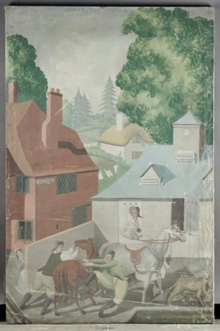 an english holiday stable yard by mary adshead