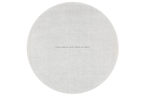 white paper will blow through the streets by james lee byars