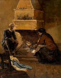 by the fireplace by vasilis germenis