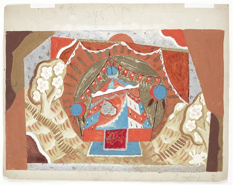 royal tent for rimsky korsakovs coq dor berlin 1923 by pavel tchelitchew