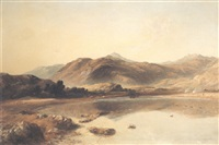 view of moel siabod, north wales by thomas danby