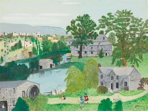 the willow mill by grandma moses