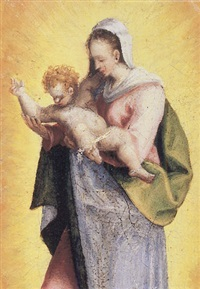 madonna and child by domenico beccafumi