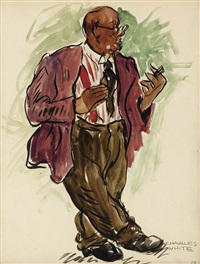 untitled (man with cigar) by charles wilbert white