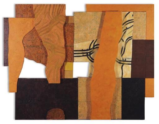 orange landscape (diptych) by nazar yahya