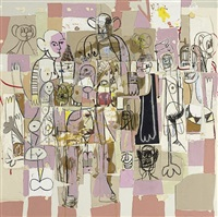 figure collage by george condo
