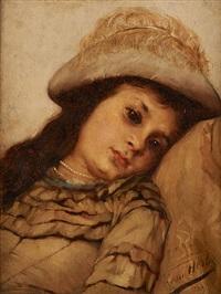 l'enfant au chapeau à plume by léon herbo