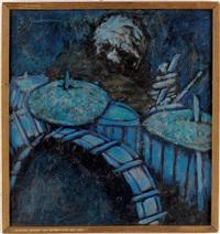 trommeslager blå (blue drummer) by clifford jackson