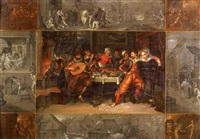 la parabole du fils prodigue by kaspar (jasper) van den hoecke
