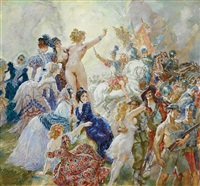 spoils of peace by norman alfred williams lindsay