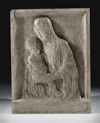 relief with the virgin and child by antonio rizzo