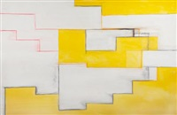 untitled in yellow, black and red by thornton willis