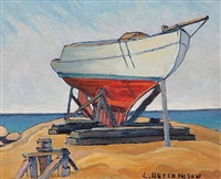 untitled - boat in dry dock by leonard hutchinson