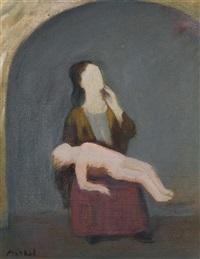 mère et son enfant by georg jerzy merkel