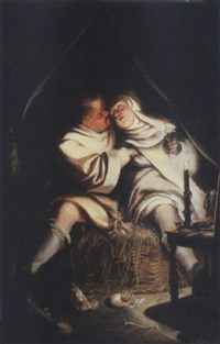 a monk seducing a nun by dutch school-southern (17)