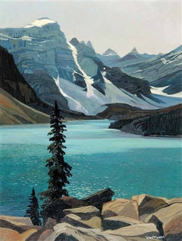 moraine lake by richard dick ferrier