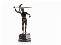 warrior with spear by georges morin