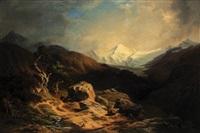 alpská krajina by friedrich wachsmann