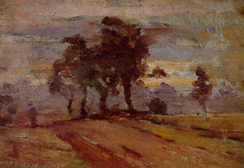 country road at evening by john llewellyn jones