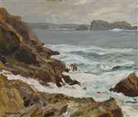 rocky coast by paul dougherty