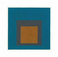 study for homage to the square: golden earth by josef albers