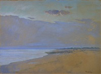 clocher de bernieres sur mer by pierre-edmond peradon