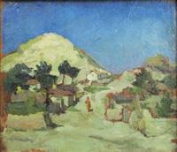 landscape of balcic by victor brauner