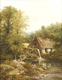 a pandy mill, dolgally, north wales by john gunson atkinson